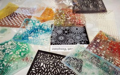 Encaustic with Stencils