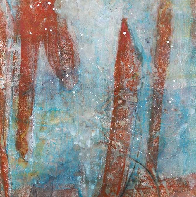 Encaustic Eco Printing Monotype